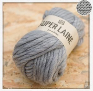 Super laine 100% mérinos - gris #peace-and-wool
